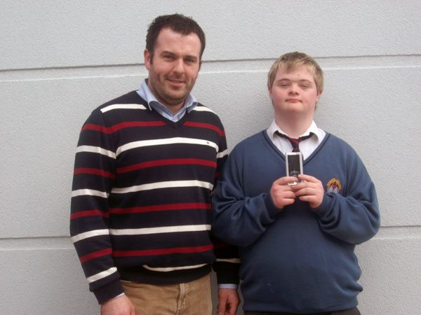 JCSP 2010-2011 : Mr Culhane with Patrick Madden winner in JCSP competition Write a Book