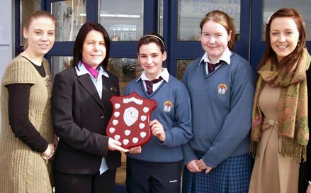AIB Catherina O Connor presenting Player of The Match awards to Deb Murphy and Orla Condon 2010-2011