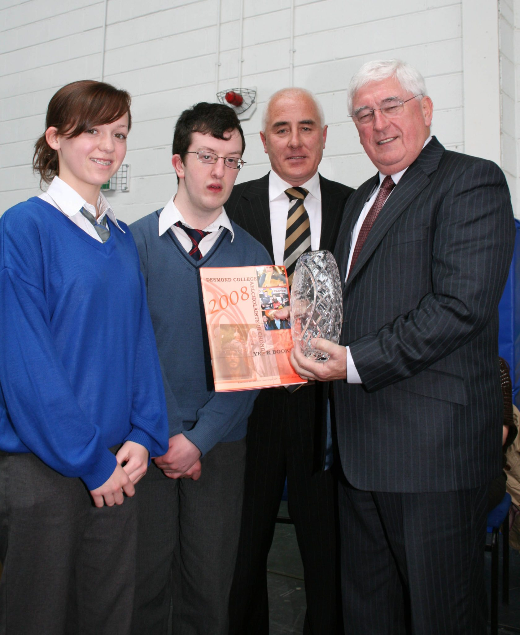 2008 : Visit of Minister of Education Mr Batt OKeeffe to Desmond College