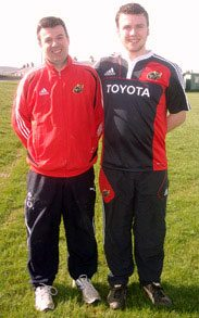 Rugby 2010-2011 : Mr Lowe and rising Rugby star, Hugh Lane