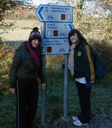 2010-2011 Transition Year : Edel and Gemma on Walk