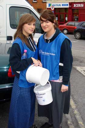 2010-2011 Transition Year : Rachel and Gemma Collect for Autism