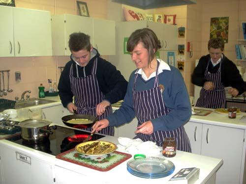 2010-2011 Transition Year Cooking Pancakes