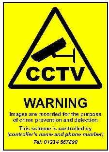 CCTV Policy Sign