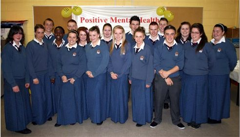 Desmond College students holding Positive Mental Health Week