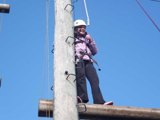2010-2011 Transition Year : Rachel climbing New Heights in Killaloe