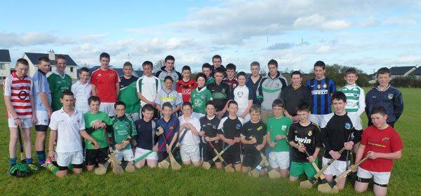 Limerick Senior Hurlers train Desmond College hurling team
