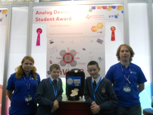 Desmond College VEC Secondary School Newcastle West Limerick Winners of the Young Scientist Analog Award 2012