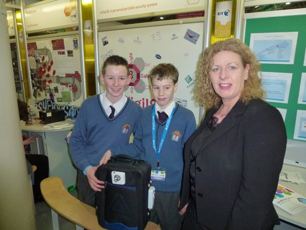 Winning Students Young Scientist Competition with Principal Vourneen Gavin Barry of Desmond College VEC Secondary School Newcastle West Limerick