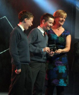 Young Scientist 2012 Junior Technology winners from Desmond College Newcastle West Secondary School Limerick