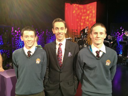 Young Scientist Desmond College Newcastlewest VEC School on the Late Late Show with Ryan Tubridy