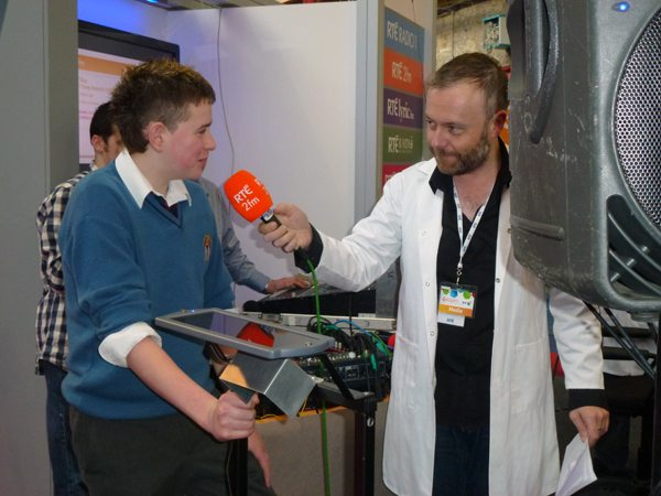 Young Scientist Exhibition RDS Dublin 2012 Desmond College VEC Limerick Secondary School Interview with RTE