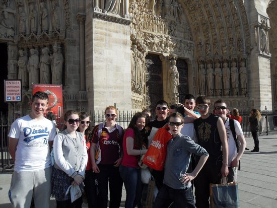2nd year trip to paris : desmond college at notre dame