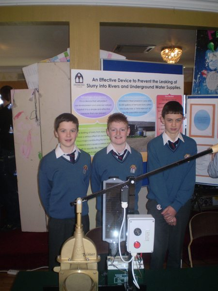 Prevention of Leaking Slurry into Rivers and Underground Water supplies by Desmond College VEC School Newcastle West Limerick stucents