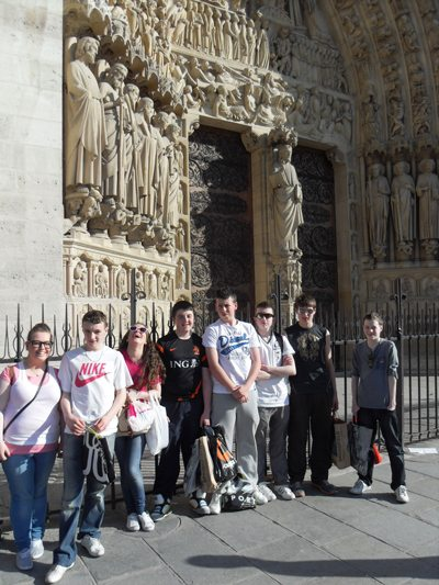 Notre Dame : Desmond College Newcastlewest Secondary School students 2nd year trip to Paris, France