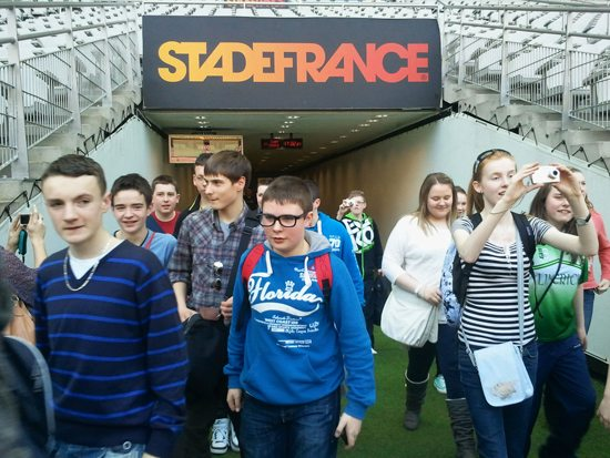 StadeFrance : Desmond College 2nd year tour to Paris
