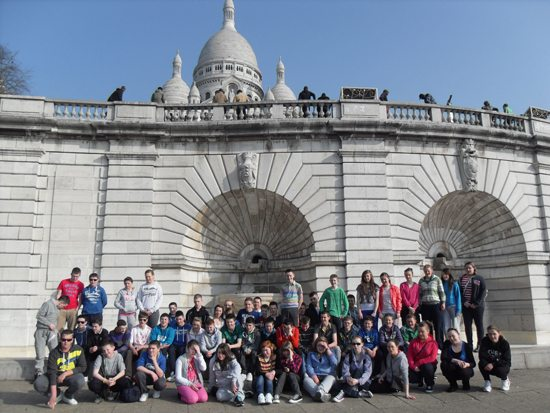 Desmond College, Newcastle West, Limerick : 2nd year school tour to Paris