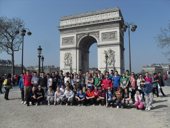 2nd year trip to paris : arc de triomphe