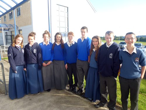 Lucky winners of the Ballybunion (Co. Kerry) Irish College Scholarship