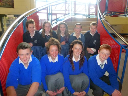Students from Gaelcholaiste Ui Chonba and Desmond College who won scholarships this summer