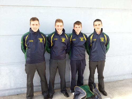 Desmond College Students participating in the Harty Cup 2012