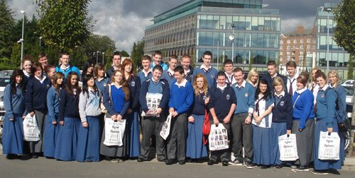 Students from Desmond College attending the Higher Options Conference 2012