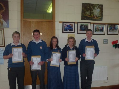 Students of Desmond College receive their Junior Cert Results in September 2012