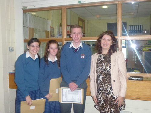 Pupils of Desmond College receiving their Junior Certificate Results