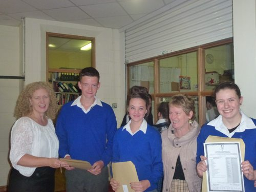 Students from Newcastle West school Desmond College receive their Junior Certificate Results