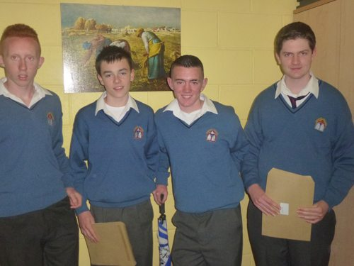 Junior Certificate Students in Newcastle West Desmond College