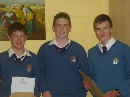 Delighted Junior Certificate Students receiving their Results in September 2012