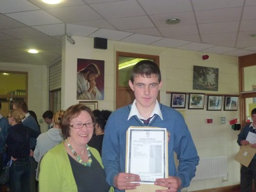 Receiving Junior Cert Results in Desmond College
