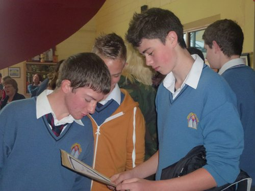 Excited pupils at Desmond College upon Receiving their Junior Certificate Results