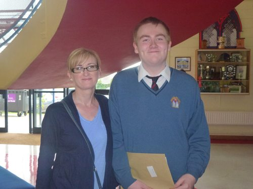 Student Receives his Junior Certificate Results on Wed 12th September 2012