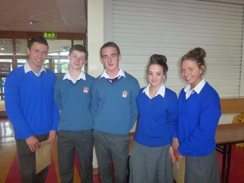 Students who sat the Junior Certificate in June 2012 Receive their Junior Cert Results
