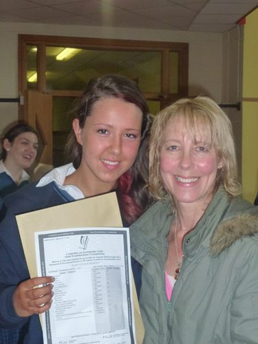 A Desmond College Student receives her Junior Certificate Results