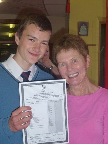 A Desmond College Student Receiving his Junior Certificate Results