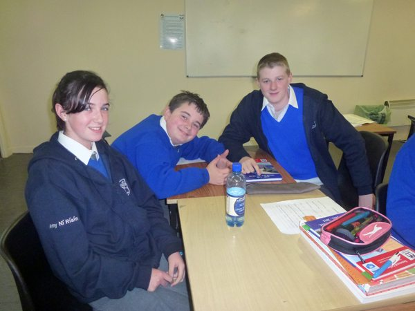 Desmond College 1st year students with their transition year mentors