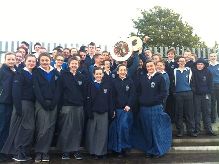 Desmond college students supporting the Harty cup team 2012