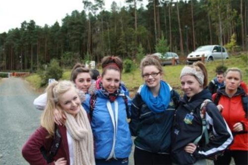 Desmond College Students on the 1st Year Transition Year Hike 2013