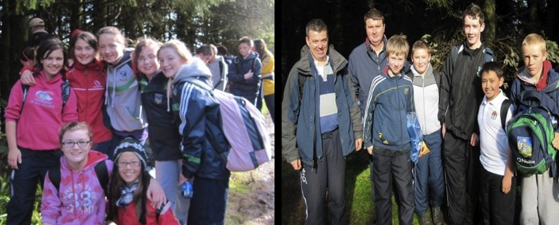 Ballyhoura Trail : Desmond College Students and Teachers on 15-mile hike