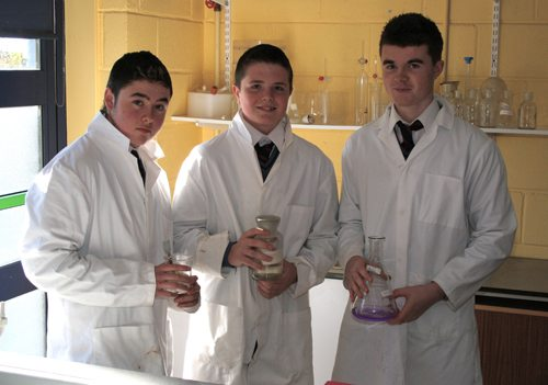 Some of 2013 BT Young Scientist Competition students selected from Desmond College