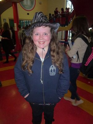 Students wore fun hats and unusual hair styles for the Charity Day in Desmond College