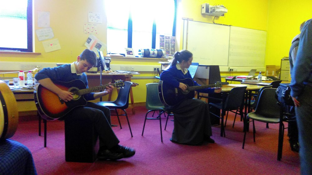 Learning to Play Music Together during Desmond College Music Class