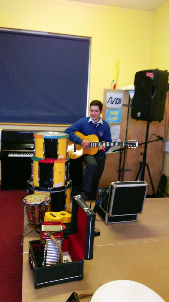 Working with Musical Instruments during Desmond College Music Class