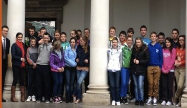 Desmond College Students on their Annual Trip to Leinster House
