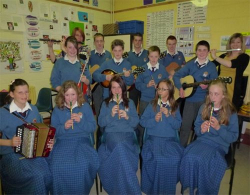 Music Students in Desmond College Newcastle West Co Limerick