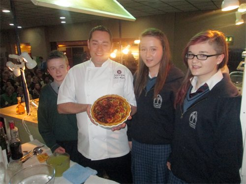 Neven Maguire and Desmond College students