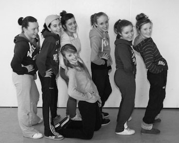 Striking a pose! Desmond College Students preparing for the Desmond Factor 2013