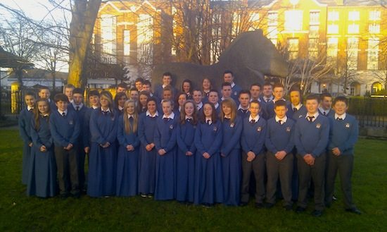 The Desmond College Secondary School Students from Newcastle West, Limerick at the RDS for the Young Scientists Competition